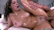 Oiled Up Babe Lily Love getting Fucked