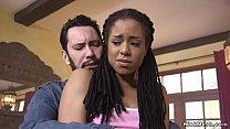 Slave hottie gets black ass fucked in bondage