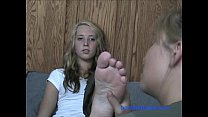 Allie Warms Up Katelyn's Toes (Part 1)