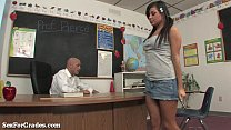 Teen Slut Taught A Hardcore Lesson After Class!