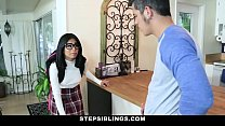 StepSiblings - Nerdy Teen (Monica Asis) Rides Stepbros Cock