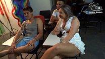 Aula de sexo oral com Alessandra Maia.  Rubens Badaro Dhones Portella Productions Mr Rola Ator ( Vídeo completo no Xvideos Red )