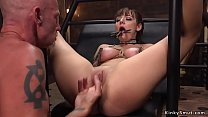 Elder master fucks bound brunette
