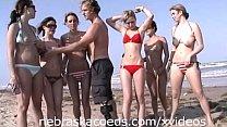 Teens Nude in Public on Beach