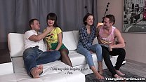 Young Sex Parties - Teens Liona Bee Angie Moon gang-bang fucking teen porn