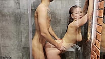 Shower Creampie with Pretty Redhead Wife KleoModel Homemade