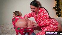 Slut Naughty Oiled Girl (Allie Haze & Harley Jade) With Big Round Butts Love Anal Sex movie-04