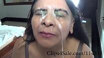 Clips4Sale.com/114318  MadamButt mega booty milf gets a huge facial after a nice handjob
