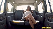 Fake Taxi Brunette with big boobs and shes a squirter