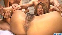 Amazing group sex play with nasty Aiki Kurosawa