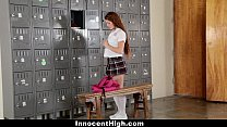 InnocentHigh - Slutty Cheerleader (Kimberly Brix) Squirts All Over Coach