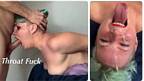 Extreme Throat Fuck for StepDaughter with Throat Bulge