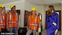 WhiteGhetto Horny Housewife Gangbanged by Construction Workers