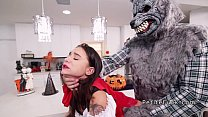 Petite red riding hood gets huge dick