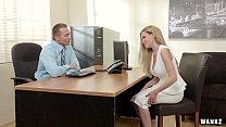 Russian Blonde Subil Seduces Her Boss!