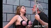 Breasty hotty spanked