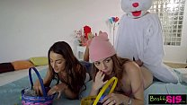 Easter Egg Hunt Gets Bunny Fucked By Hot BFF And StepSis! S4:E10