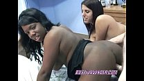 Busty Lavender swapping a cock with an ebony slut
