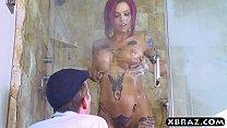 Big tits emo pornstar Anna Bell Peaks bang in a shower