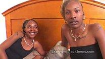 Horny Ebony Schoolgirls in Threesome Movie