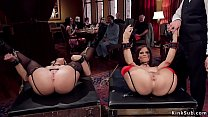 Milf anal fucked at bdsm orgy