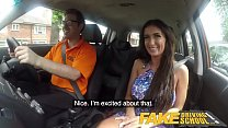 Fake Driving School Posh cheating wife with great tits has loud orgasms