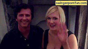 Hotwife sucks off Cameraman before fucking her Husband