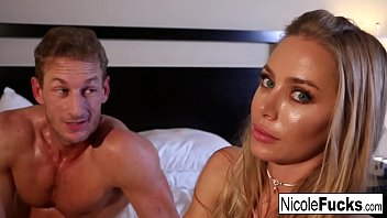 Hot Nicole shoots with a hot stud while playing on social media