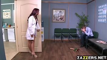 Monique Alexander blowjob her patients thick cock