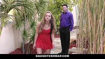 DaughterSwap - Naughty Blonde Teen (Adria Rae) (Cara Stone) Caught on Webcam And Fucked