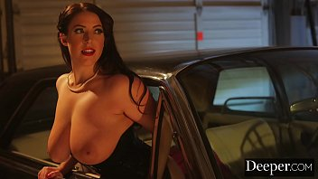 Deeper. Angela White Lures Each Man In to Take Their Turn